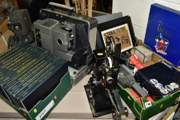 A GROUP OF CINEMATIC ITEMS etc, to include a Bell & Howell Filmsound 16mm cine projector and