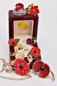 A COLLECTION OF ROYAL BRITISH LEGION AND OTHER COMMEMORATIVE POPPY PINS, to include a Royal
