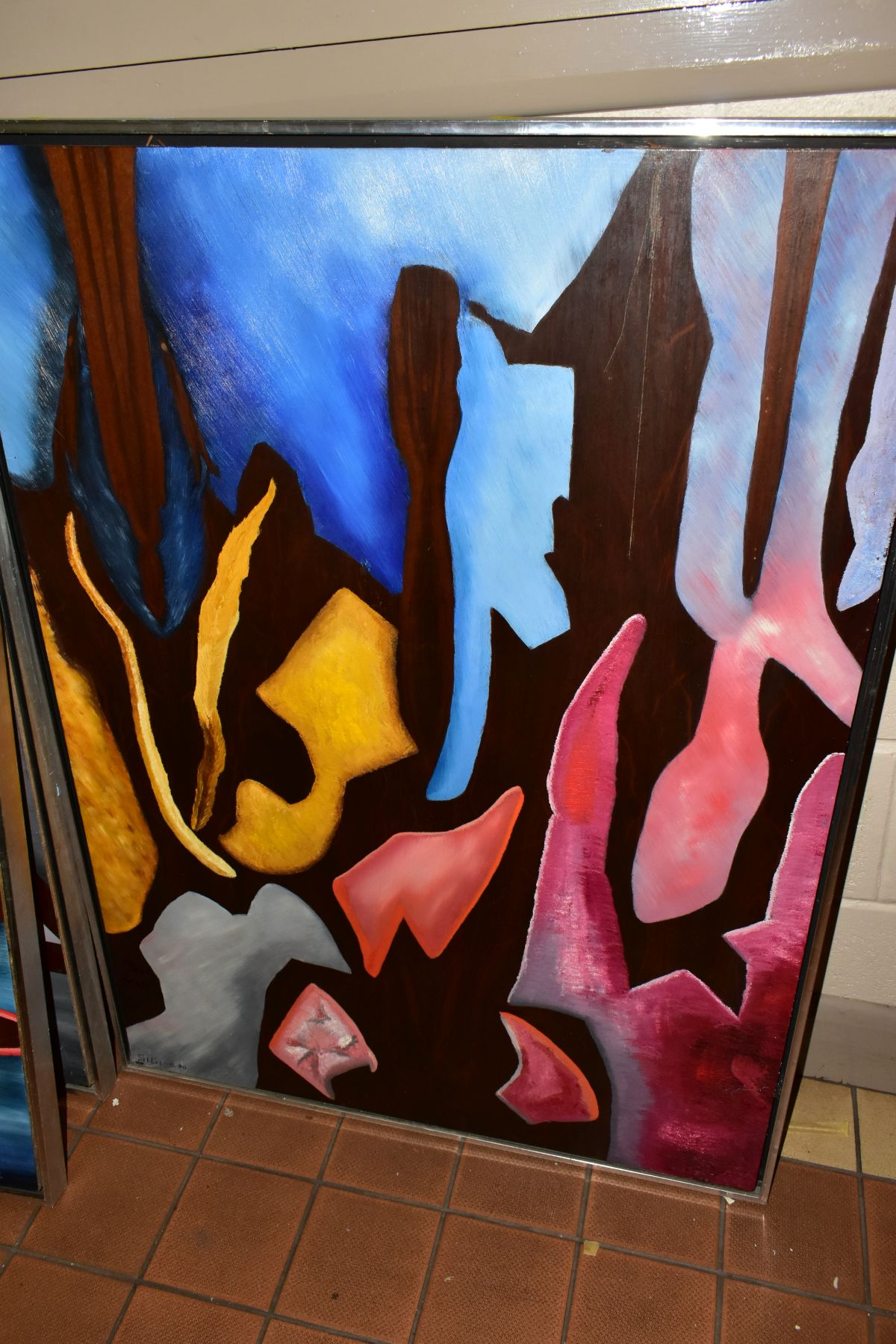 THREE ABSTRACT EXPRESSIONIST OILS ON BOARD, signed Sigi and dated 1980, 1981 and 1982, largest - Image 4 of 6