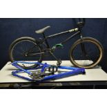 A JET KEY BMX BIKE with a 9in frame ,a Carrera Vulcan 16in frame and a vintage child's bike (3)