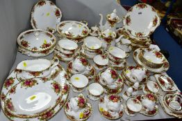 ROYAL ALBERT 'OLD COUNTRY ROSES' comprising two cake plates, two tureens, oval meat platter, gravy