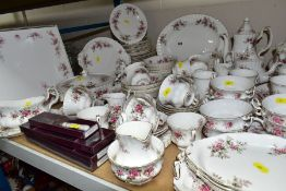 ROYAL ALBERT 'LAVENDER ROSE' PATTERN DINNER, TEA AND COFFEE SERVICE, oval platter (seconds), twin