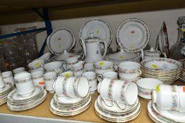 A ROYAL ALBERT/PARAGON 'BELINDA' PART DINNER SERVICE, comprising ten coffee cups (two Royal Albert),