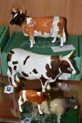 BESWICK AYRSHIRE CATTLE, comprising Bull Ch. Whitehill Mandate No.1454B, Cow Ch. Ickham Bessie No.