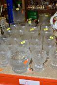 TIMO SARPANEVA FOR IITTALA KEKKERIT GLASS WARES, comprising fourteen 9cm wine glasses, nine 11cm