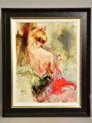 ANNA RAZUMOVSKAYA (RUSSIAN CONTEMPORARY) 'ELEGANT MUSE II', a limited edition print depicting a