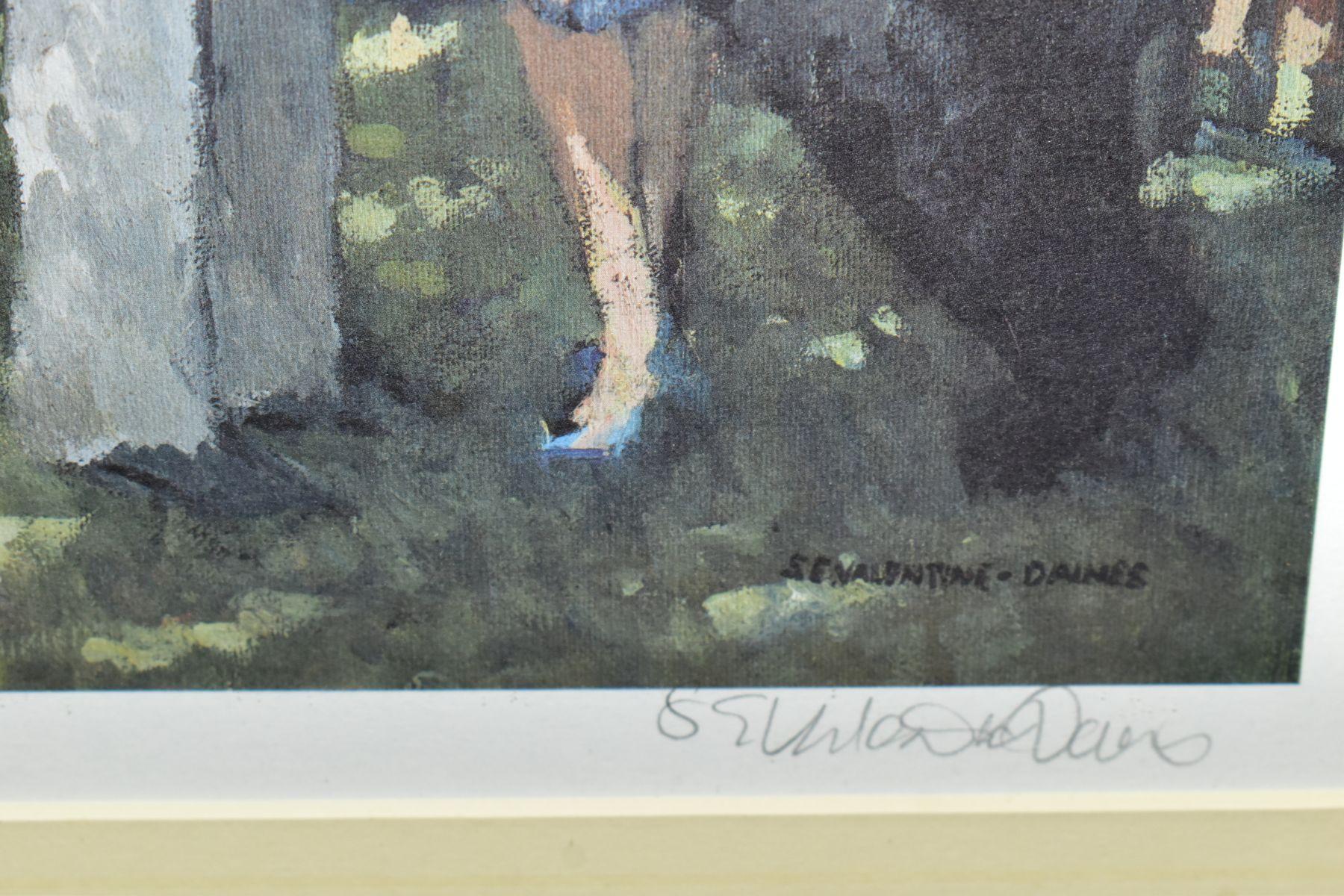 SHERREE VALENTINE DAINES (BRITISH 1959) 'HIGH SOCIETY' a limited edition print of Henley Regatta, - Image 3 of 3