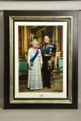JOHN SWANNELL (BRITISH 1946), 'HER MAJESTY QUEEN ELIZABETH AND HRH PRINCE PHILIP', a limited edition