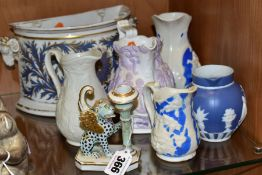 A SMALL GROUP OF 19TH CENTURY CERAMICS, comprising an early 19th Century British porcelain
