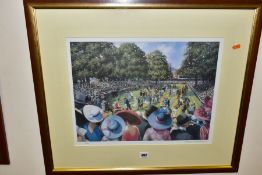 SHERREE VALENTINE DAINES (BRITISH 1959) 'LADIES DAY, ROYAL ASCOT' a limited edition print of the