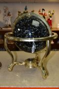 A BOXED GUILDFORD ASTRONOMICAL SOCIETY CELESTIAL GLOBE, supported by a brass metal stand inset