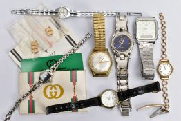 SEVEN ASSORTED WRISTWATCHES, to include a gents gold-plated 'Avia' seventeen jewel wristwatch (