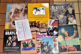 THE BEATLES EPHEMERA, six books, a Tour Programme, a replica Festival programme, two Beatles 'Live