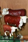 BESWICK HEREFORD CATTLE, comprising Bull Ch of Champions No 1363B, Hereford Cow Ch of Champions No