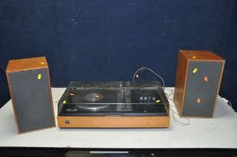 A DYNATRON HFC 51 MUSIC CENTRE with a Goldring G102 turntable and a pair of matching speakers (