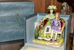 A BOXED LIMITED EDITION ROYAL WORCESTER FIGURE GROUP, from the Victorian Series, 'Charlotte and