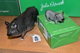 A BESWICK VIETNAMESE POT-BELLIED PIG, G189 AND A BOXED Vietnamese Pot-Bellied Piglet G213 (2) (