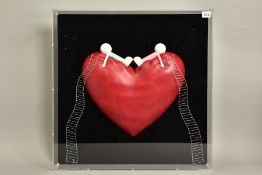 DOUG HYDE (BRITISH 1972) 'HIGH ON LOVE' a limited edition sculpture of figures on a heart 121/150