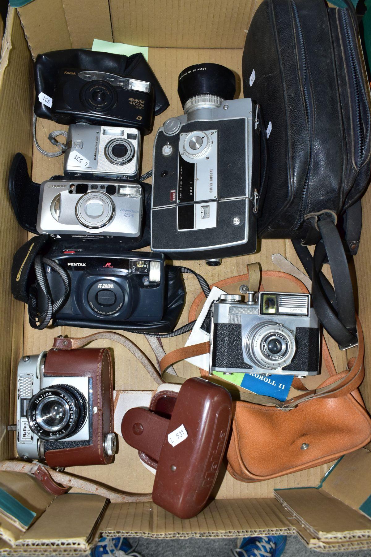 PHOTOGRAPHIC EQUIPMENT, to include Halina Rolls SLR Camera, a Boots Koroll II SLR Camera,