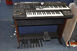 A YAMAHA ELECTONE EL7 ELCTRIC ORGAN with bass pedals and two keyboards ( PAT pass and working) all