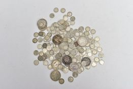 A BAG CONTAINING POST1920- ONWARDS SILVER UK COINAGE to include approximately 384 grams of mainly