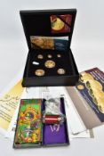 A HATTONS OF LONDON 2020 CASED SIX GOLD COIN PRE-DECIMAL 50TH ANNIVERSARY gold proof prestige set,