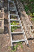 A SET OF ZARGES ALUMINIUM STEP LADDERS 195cm high