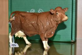 A BOXED BESWICK SPECIAL EDITION LIMOUSIN COW, No.3075B, special colourway produced for The Beswick