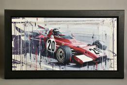 KRIS HARDY (BRITISH 1978) 'FERRARI FI II', a study of a racing Ferrari 321B2, signed bottom right,