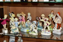 A SET OF TWELVE ROYAL WORCESTER MONTHS OF THE YEAR FIGURES MODELLED BY FREDA DOUGHTY, comprising '