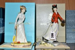 TWO BOXED LIMITED EDITION ROYAL WORCESTER FIGURES, from the Victorian Series, 'Emily' No 227/500 and