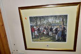 SHERREE VALENTINE DAINES (BRITISH 1959) 'HIGH SOCIETY' a limited edition print of Henley Regatta,