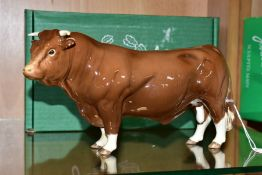 A BOXED BESWICK SPECIAL EDITION LIMOUSIN BULL, No.2463B, special colourway produced for The
