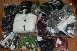 VARIOUS CLOTHING, to include Studio Outerwear white hooded coat, size 24, Studio Outerwear black