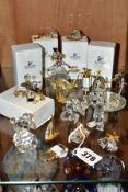 FIVE BOXED SWAROVSKI CRYSTAL MEMORIES CLASSICS, FIVE OTHER LOOSE SWAROVSKI ITEMS AND SIX OTHER