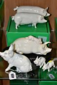 SIX BESWICK PIGS, comprising Pig No 832, Piglet - Running No 833, Piglet - Trotting No 834, Sow