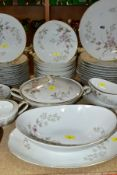 A NORITAKE LUISE PART DINNER SERVICE, comprising eleven of each 26.5cm, 21cm plates and 19cm