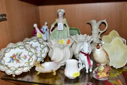 A SMALL GROUP OF ORNAMENTS, to include a Franklin porcelain figure 'Marie Antoinette' with