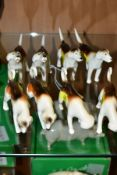 TWO SETS OF FOUR BESWICK FOXHOUNDS, first versions, No 941 (x2), No 942 (x2), No 943 (x2) and No 944