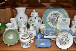A COLLECTION OF AYNSLEY 'COTTAGE GARDEN' AND 'PEMBROKE' PATTERN GIFTWARE AND A SMALLL QUANTITY OF