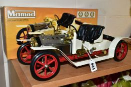 A BOXED MAMOD LIVE STEAM ROADSTER, No.SA1, not tested, complete with burner tray, steering