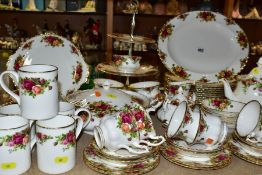 ROYAL ALBERT OLD COUNTRY ROSES PART DINNER SERVICE, comprising ten 26cm plates, nine seconds, 20.5cm