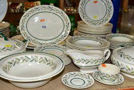 ROYAL DOULTON 'ALMOND WILLOW' PART DINNER SERIVCE, comprising six 26cm plates, twelve 22cm plates (