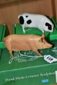 TWO BOXED BESWICK PIGS, Tamworth Pig G215 and Gloucester Old Spot Pig G230, designed by Amanda