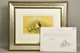 DAVID SHEPHERD (BRITISH 1931-2017) 'LIONESS AND CUBS', a limited edition print 292/475, signed to