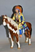 A BESWICK MOUNTED INDIAN, No 1391, designed by Mr Orwell, Beswick crest backstamp, height 22cm (