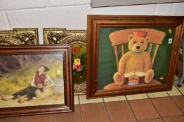 PAINTINGS AND PRINTS. ETC, comprising a pair of Spanish still life flower studies signed Cris,