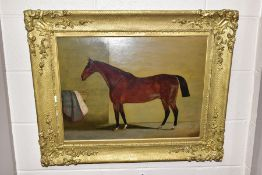 G.W. MILLEN (19TH CENTURY?) a full length profile study of a race horse, signed and dated 1861