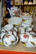 TWENTY ONE PIECES OF ROYAL WORCESTER 'EVESHAM' DINNERWARES, to include two tureens (one missing