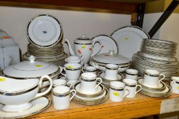 EIGHTY TWO PIECES OF ROYAL WORCESTER 'RAFFLES' DINNERWARES, comprising two lidded tureens, sauce